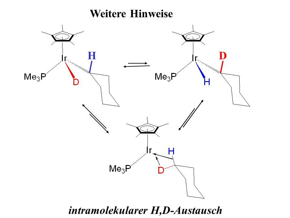Weitere Hinweise HD intramolekularer H,D-Austausch