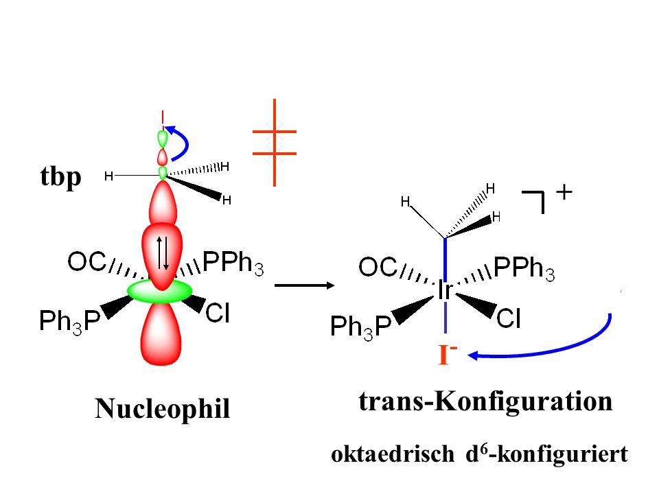 tbp + I - + I-I- trans-Konfiguration oktaedrisch d 6 -konfiguriert