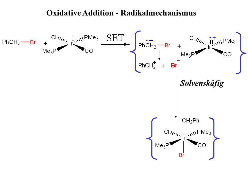 Solvenskäfig + Oxidative Addition - Radikalmechanismus