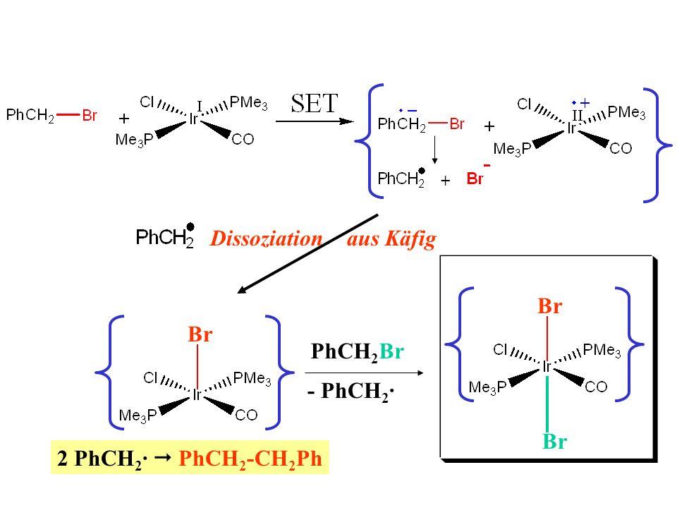 + Dissoziation aus Käfig 2 PhCH 2 · PhCH 2 -CH 2 Ph Br PhCH 2 Br Br - PhCH 2 ·