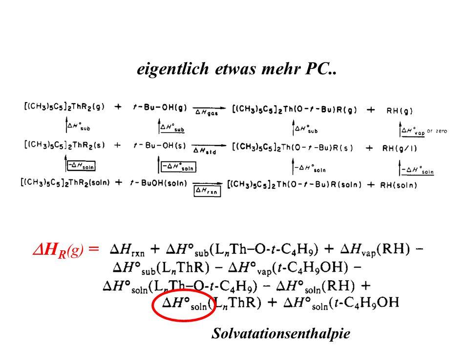 eigentlich etwas mehr PC.. H R (g) = Solvatationsenthalpie