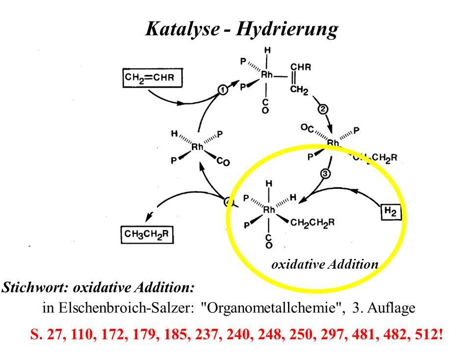 oxidative Addition Katalyse - Hydrierung in Elschenbroich-Salzer: