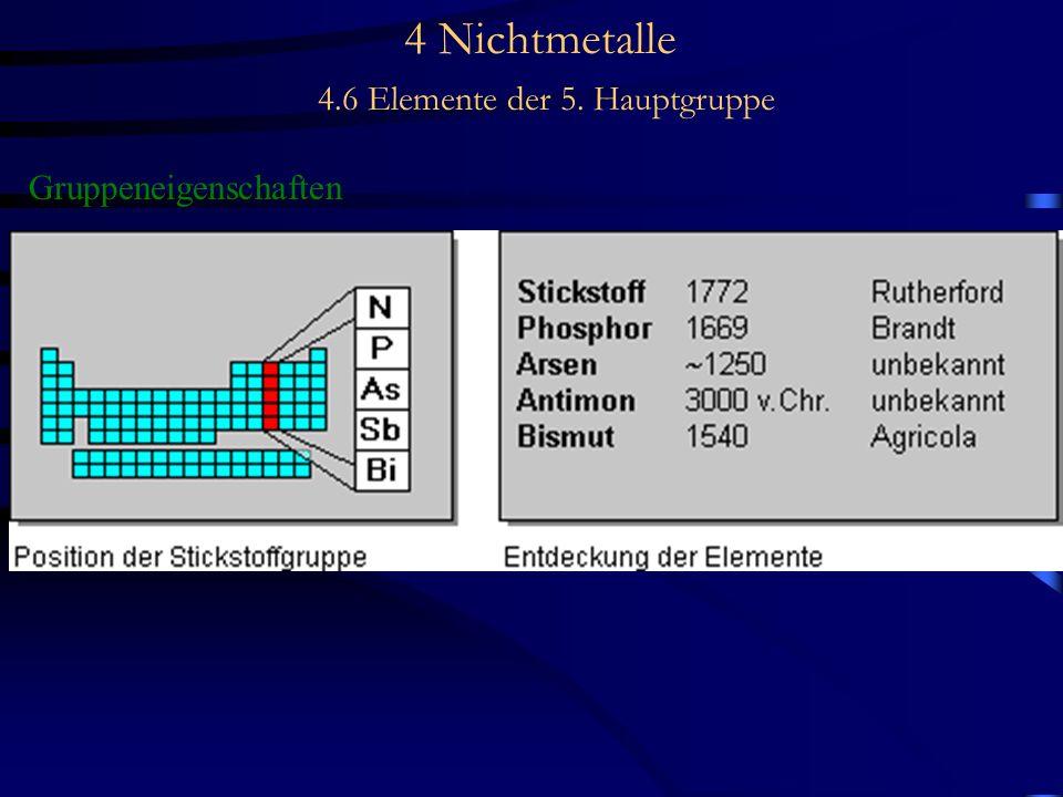 4 Nichtmetalle 4.6 Elemente der 5. Hauptgruppe Gruppeneigenschaften -
