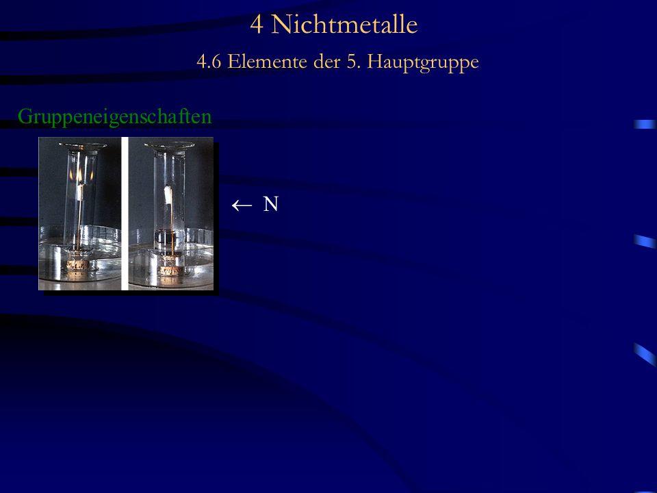 4 Nichtmetalle 4.6 Elemente der 5. Hauptgruppe Gruppeneigenschaften N