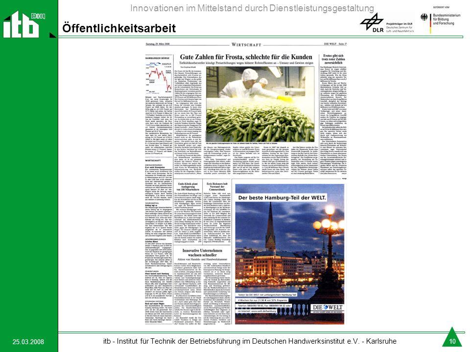 25.03.2008 itb - Institut für Technik der Betriebsführung im Deutschen Handwerksinstitut e.V.