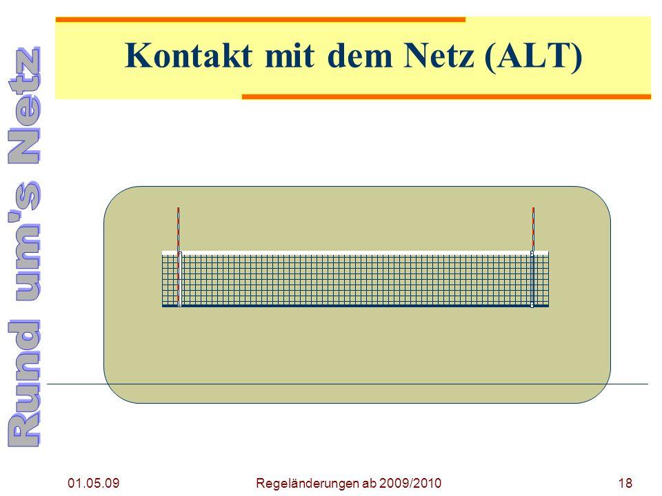 01.05.09 18Regeländerungen ab 2009/2010 Kontakt mit dem Netz (ALT)
