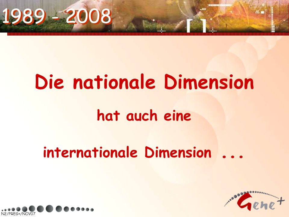 N2/PREG+/NOV07 1989 - 2008 Die nationale Dimension hat auch eine internationale Dimension...