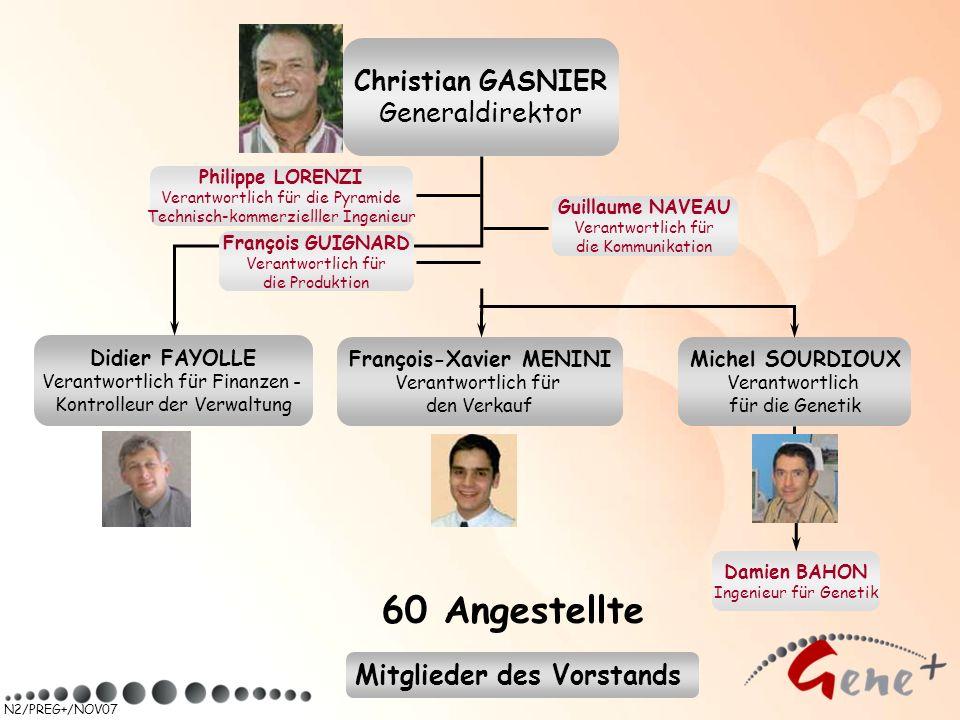 N2/PREG+/NOV07 Didier FAYOLLE Verantwortlich für Finanzen - Kontrolleur der Verwaltung Michel SOURDIOUX Verantwortlich für die Genetik François-Xavier