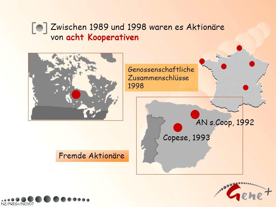 N2/PREG+/NOV07 Zwischen 1989 und 1998 waren es Aktionäre von acht Kooperativen AN s.Coop, 1992 Copese, 1993 Fremde Aktionäre Genossenschaftliche Zusam
