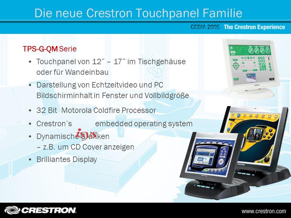 TPS-G-QM Serie Touchpanel von 12 – 17 im Tischgehäuse oder für Wandeinbau Darstellung von Echtzeitvideo und PC Bildschirminhalt in Fenster und Vollbil