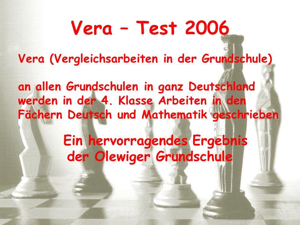 Vera (Vergleichsarbeiten in der Grundschule) an allen Grundschulen in ganz Deutschland werden in der 4. Klasse Arbeiten in den Fächern Deutsch und Mat