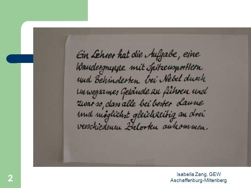 Isabella Zang, GEW Aschaffenburg-Miltenberg 1 Schaun mer mal.. Didaktischer Einsatz von Filmen bei Lehrerkonferenzen zum Thema Heterogenität in der Sc