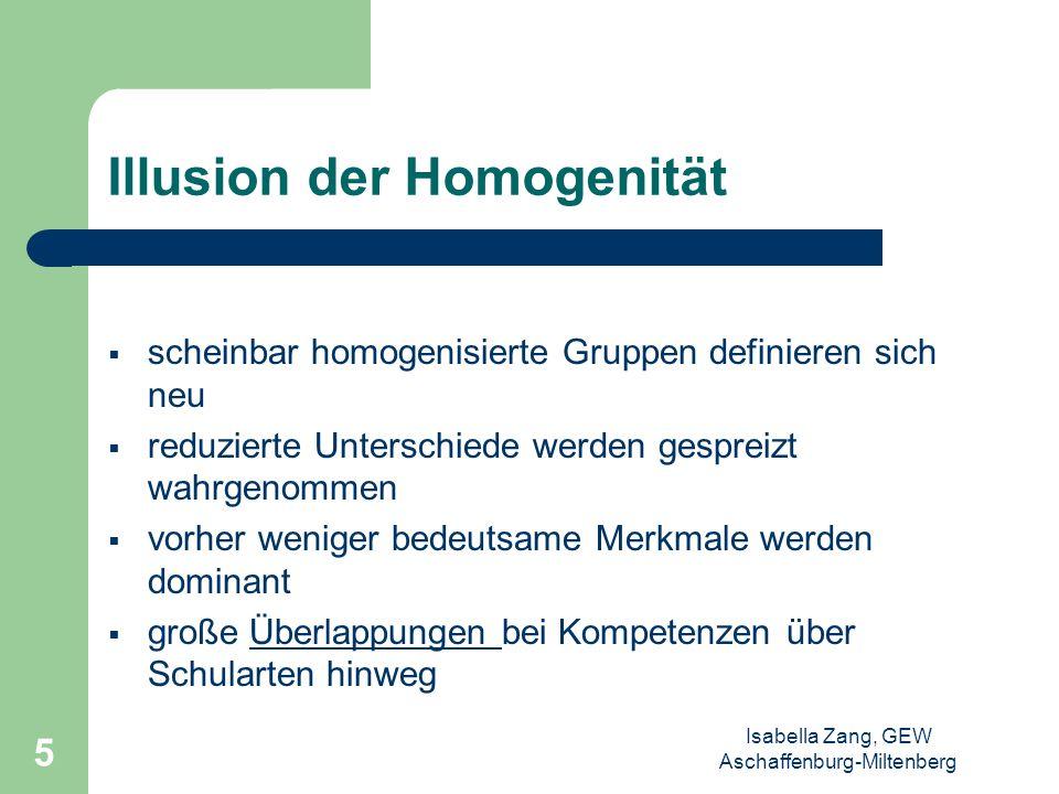Isabella Zang, GEW Aschaffenburg-Miltenberg 4 Versuch der Homogenisierung Zuordnung nach Konfession Zuordnung nach Geschlecht Zuordnung nach Alter Zuo