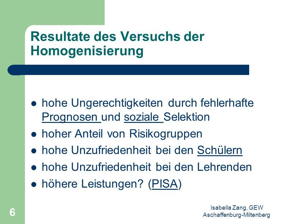 Isabella Zang, GEW Aschaffenburg-Miltenberg 5 Illusion der Homogenität scheinbar homogenisierte Gruppen definieren sich neu reduzierte Unterschiede we