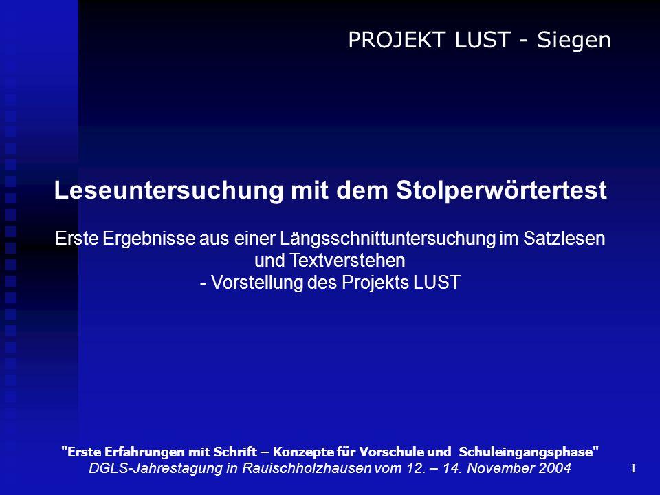 1 PROJEKT LUST - Siegen