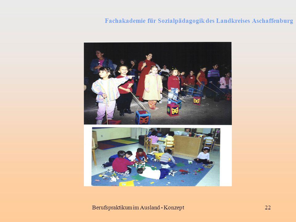 Fachakademie für Sozialpädagogik des Landkreises Aschaffenburg Berufspraktikum im Ausland - Konzept22