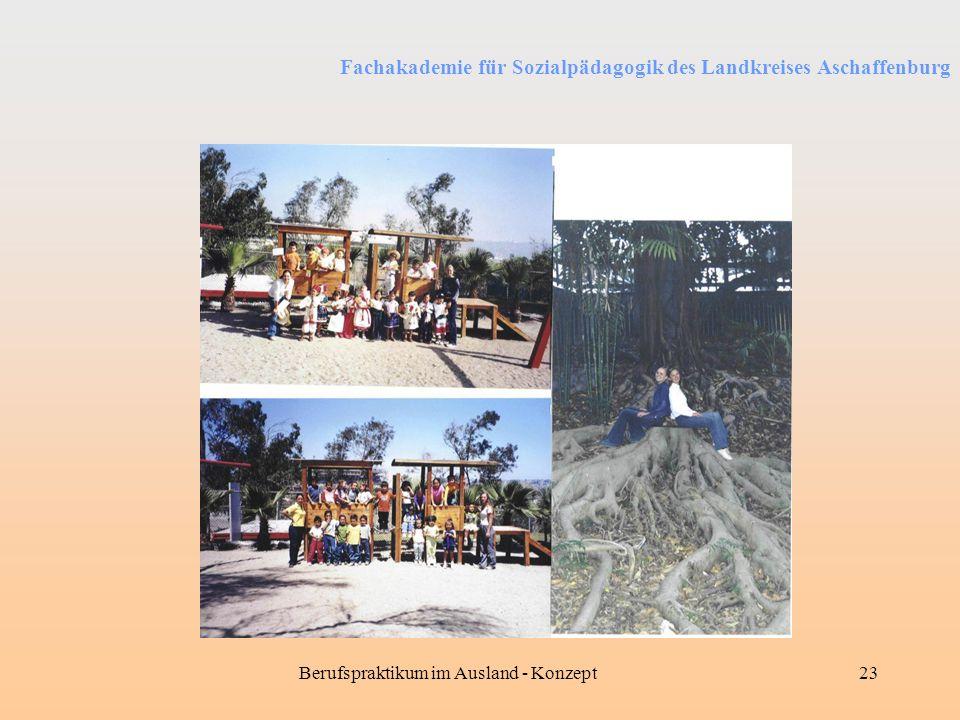 Fachakademie für Sozialpädagogik des Landkreises Aschaffenburg Berufspraktikum im Ausland - Konzept23