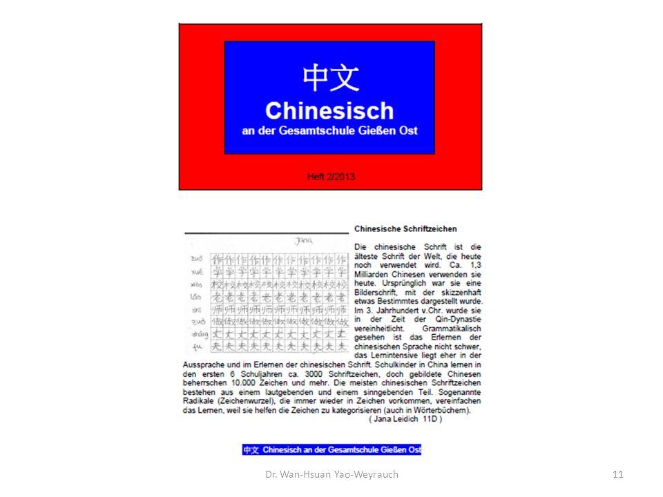 Dr. Wan-Hsuan Yao-Weyrauch11