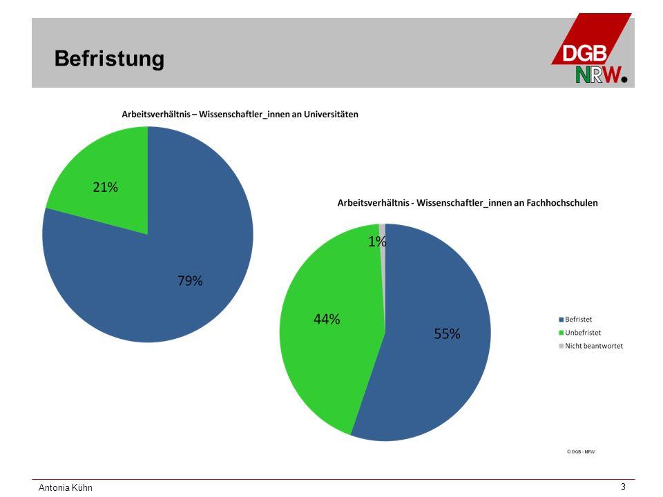 Antonia Kühn 4 Arbeitszeiten – Volle Stellen Stellenumfang 8/8 Stelle (Vollzeit) Tatsächliche Arbeitszeit Personalbereich nicht beantworte t weniger als 3636 -4041 -45 mehr als 46 Stund en Gesa mt Wissenschaft und Kunst Anzahl448312689306 in %1,3% 27,1%41,2%29,1%100,0 % Verwaltung und Technik Anzahl13896110164 in %,6%1,8%54,3%37,2%6,1%100,0 % nicht beantwortetAnzahl0086418 in %,0% 44,4%33,3%22,2%100,0 % GesamtAnzahl57180193103488 in %1,0%1,4%36,9%39,5%21,1%100,0 %