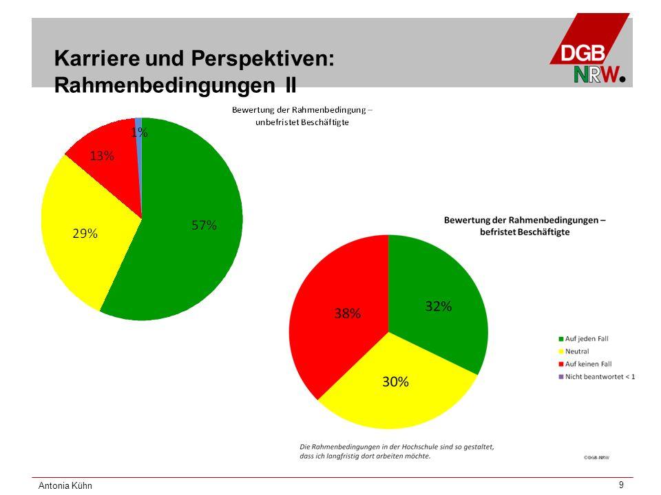 Antonia Kühn 9 Karriere und Perspektiven: Rahmenbedingungen II