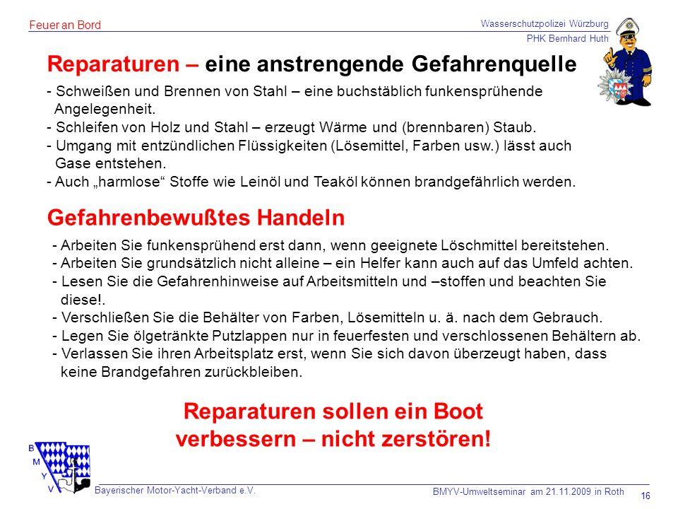 Wasserschutzpolizei Würzburg PHK Bernhard Huth Bayerischer Motor-Yacht-Verband e.V.
