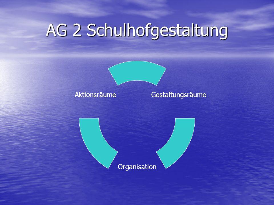 AG 2 Schulhofgestaltung Gestaltungsräume Organisation Aktionsräume