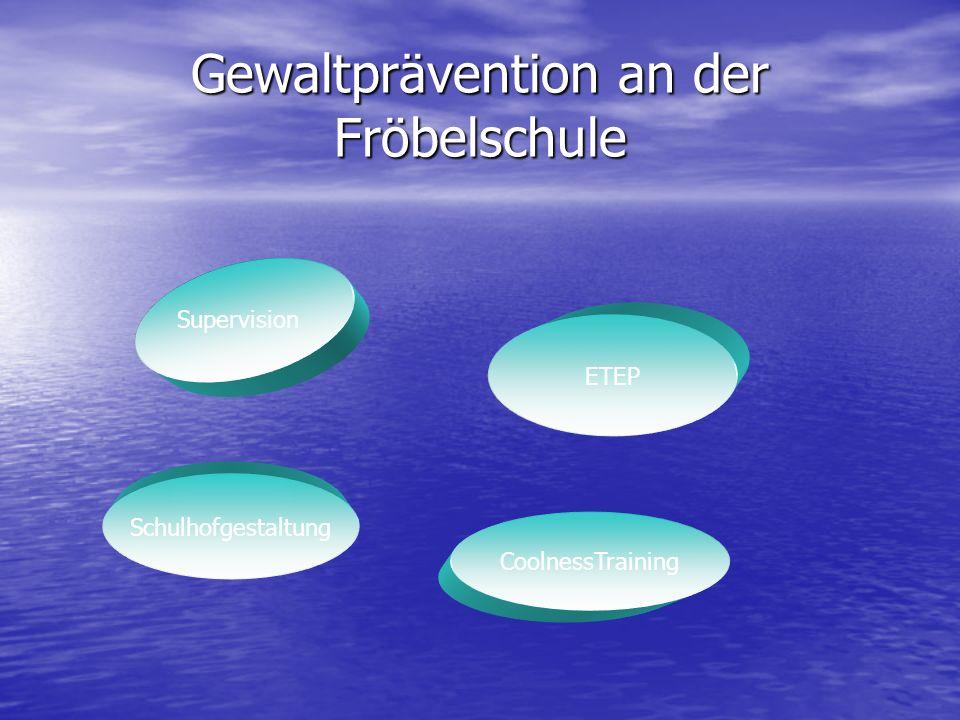 Gewaltprävention an der Fröbelschule Supervision ETEP Schulhofgestaltung CoolnessTraining