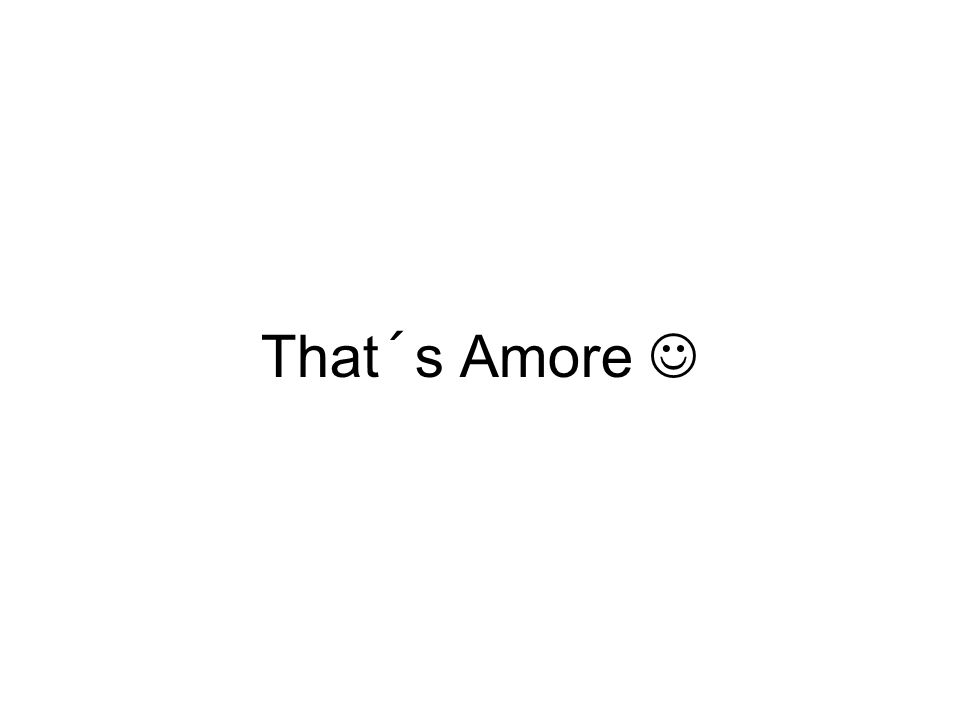 That´s Amore