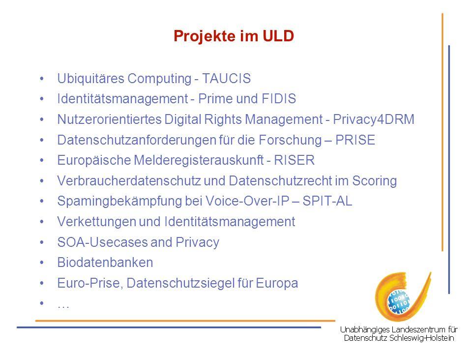ULD - Martin Rost E-Mail:LD32@datenschutzzentrum.de Telefon:0431 988 1391 ULD: Holstenstr.