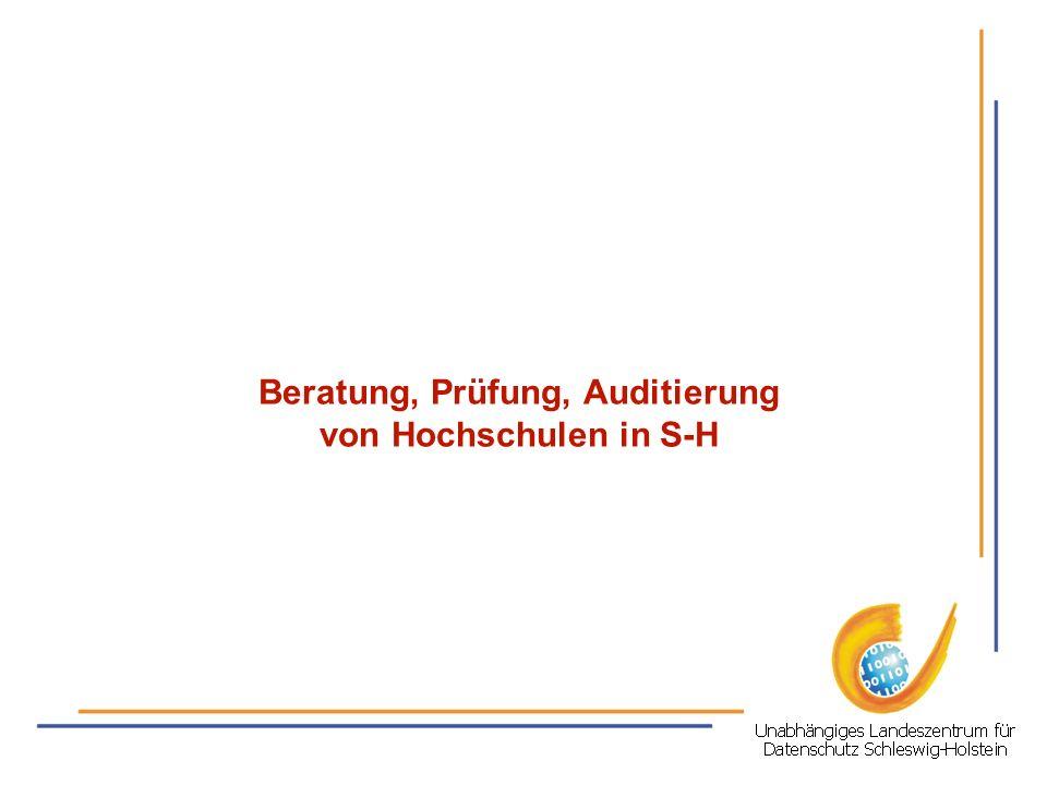 Beratung, Prüfung, Auditierung von Hochschulen in S-H