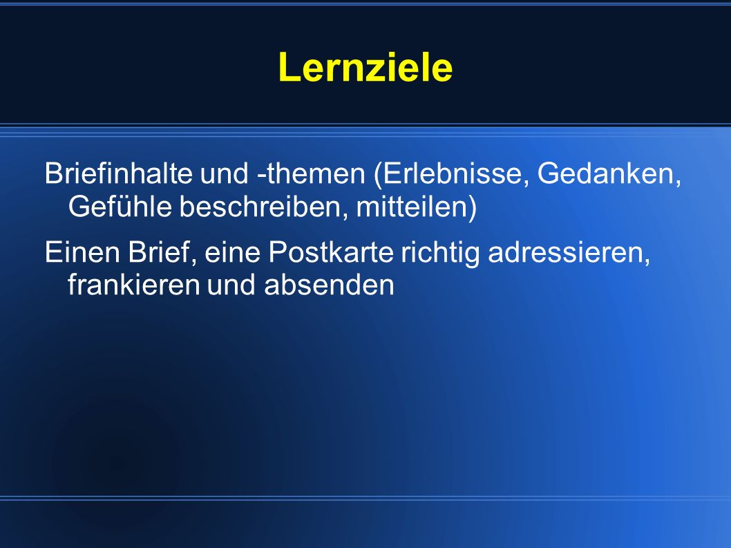 Allgemeines Brief: lat.