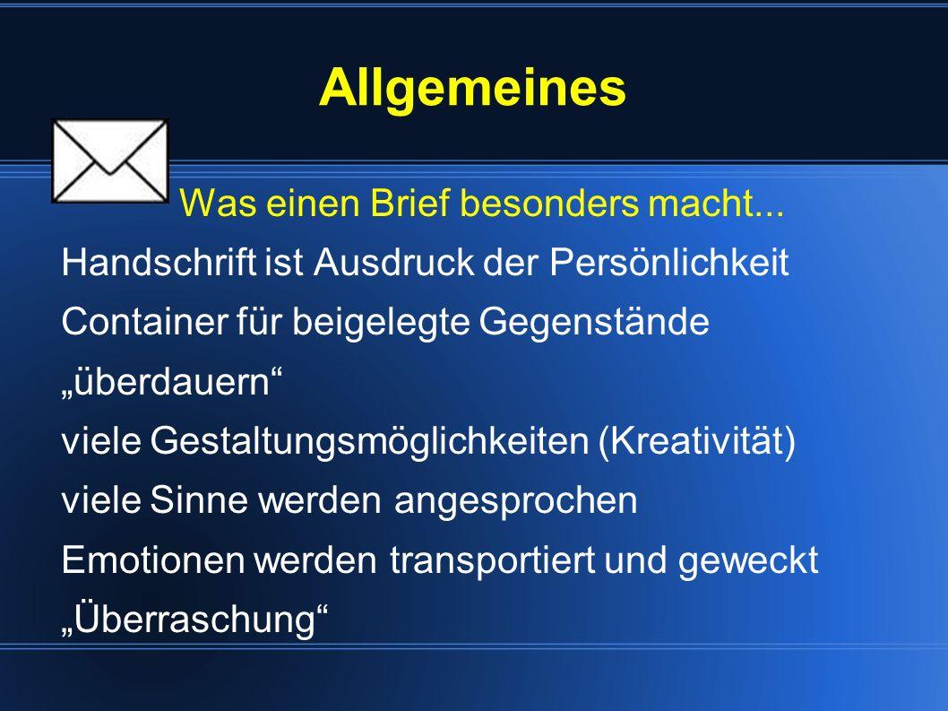 Hinweise zur Praxis Brief-/Kummerkasten Urlaubspost Flaschenpost Briefmarken sammeln Leserbriefe schreiben Brieffreundschaften (www.letternet.de) Papier schöpfen Geheimschrift Luftballonpost