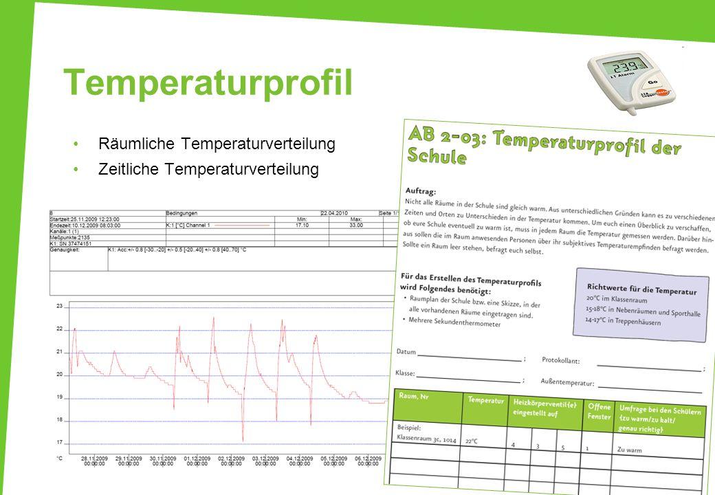 Temperaturprofil Räumliche Temperaturverteilung Zeitliche Temperaturverteilung 38