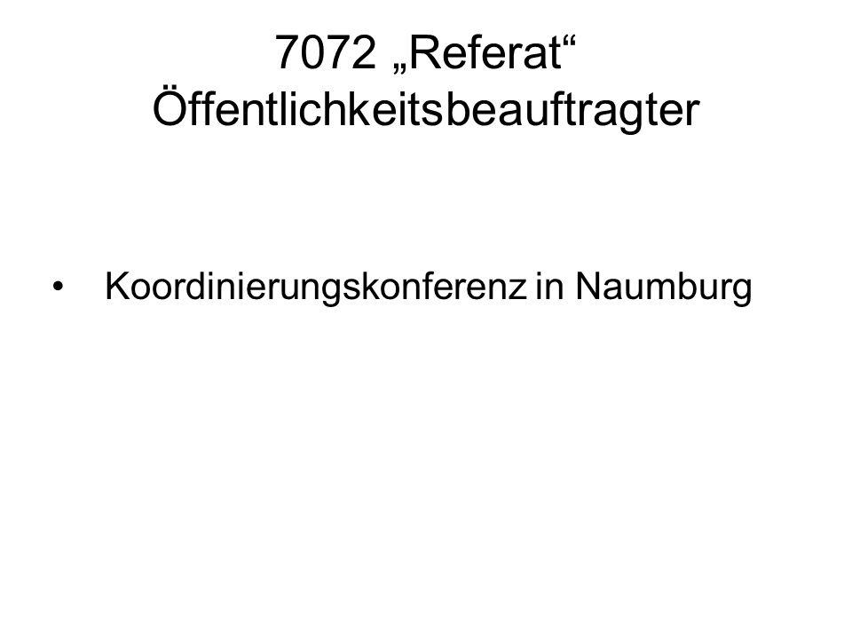 7072 Referat Öffentlichkeitsbeauftragter Koordinierungskonferenz in Naumburg