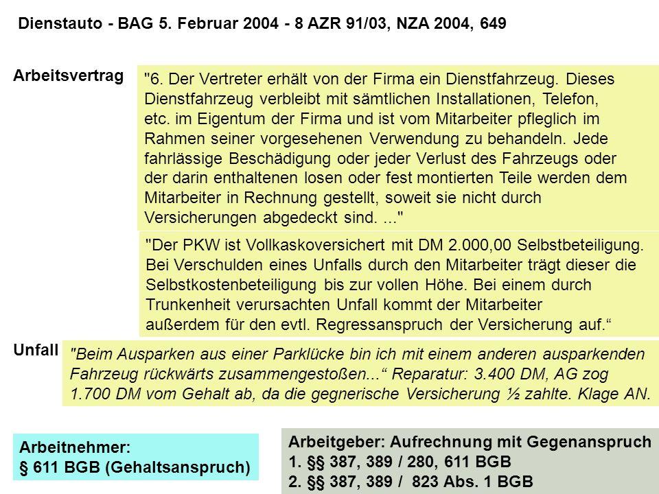Arbeitnehmer verlangt Gehalt von 1700 DM.AGL § 611 BGB und Arbeitsvertrag.