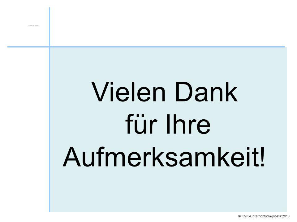 © KMK-Unterrichtsdiagnostik 2010 Vielen Dank für Ihre Aufmerksamkeit!
