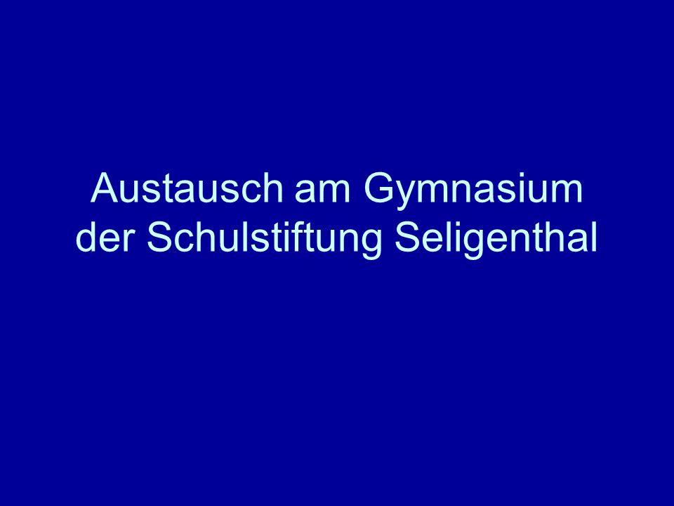 Austausch am Gymnasium der Schulstiftung Seligenthal