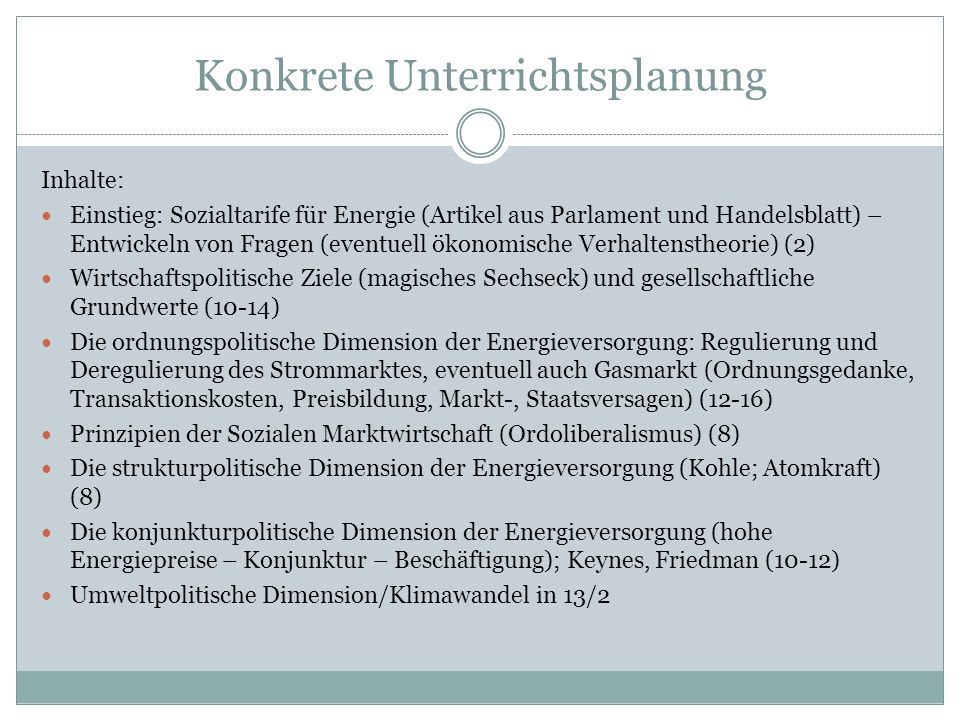 Konkrete Unterrichtsplanung Inhalte: Einstieg: Sozialtarife für Energie (Artikel aus Parlament und Handelsblatt) – Entwickeln von Fragen (eventuell ök