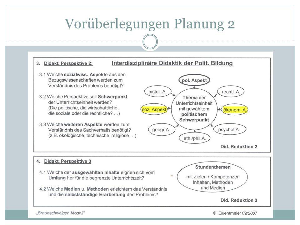Vorüberlegungen Planung 2