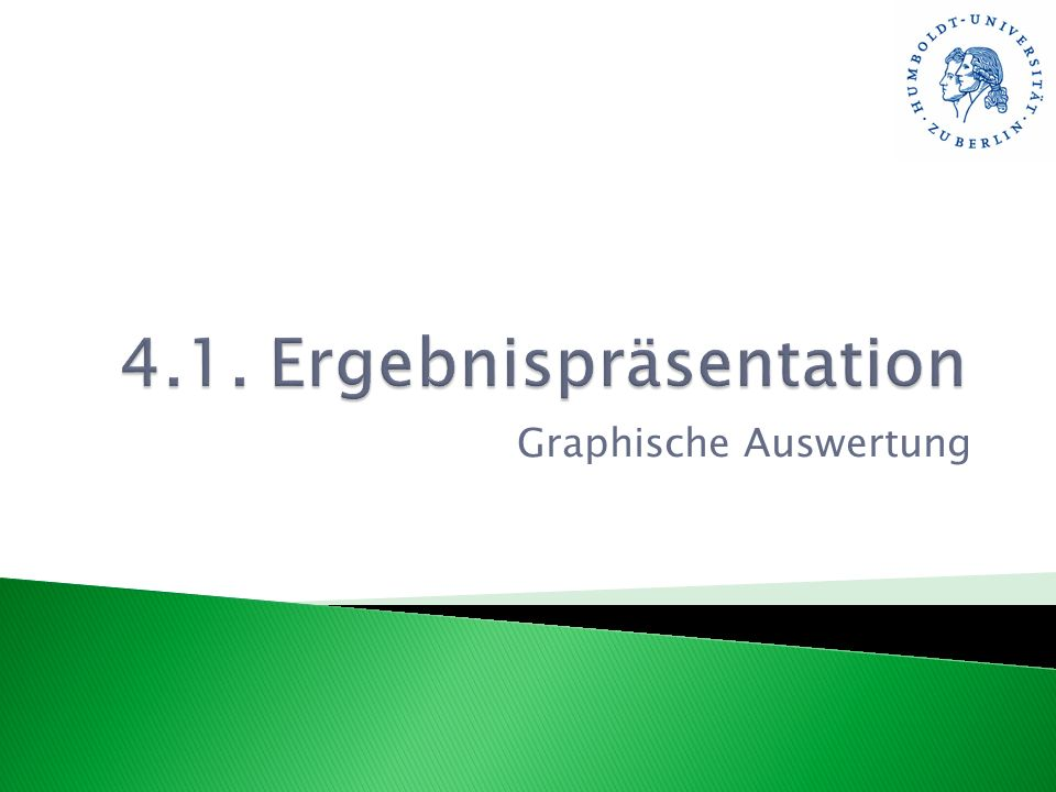 Graphische Auswertung