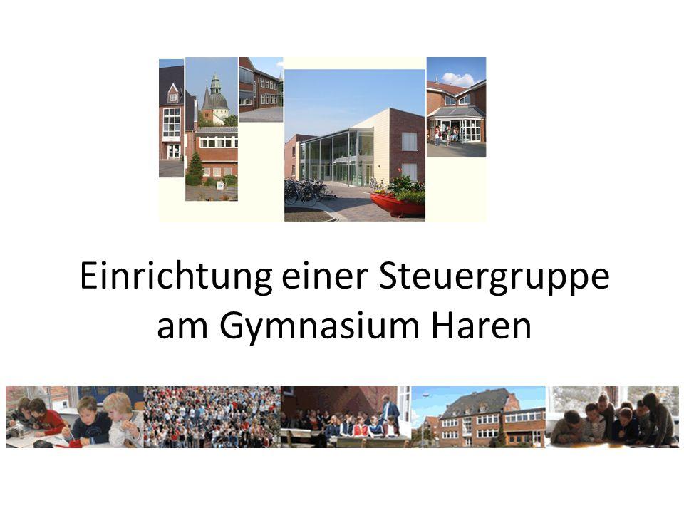 Einrichtung einer Steuergruppe am Gymnasium Haren