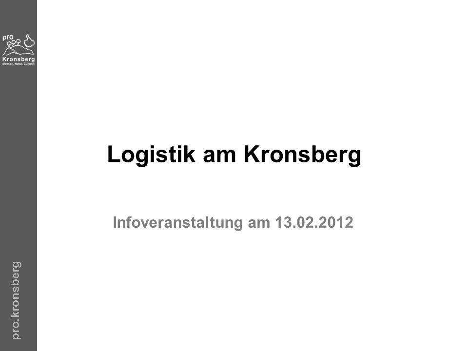 Logistik am Kronsberg Infoveranstaltung am 13.02.2012