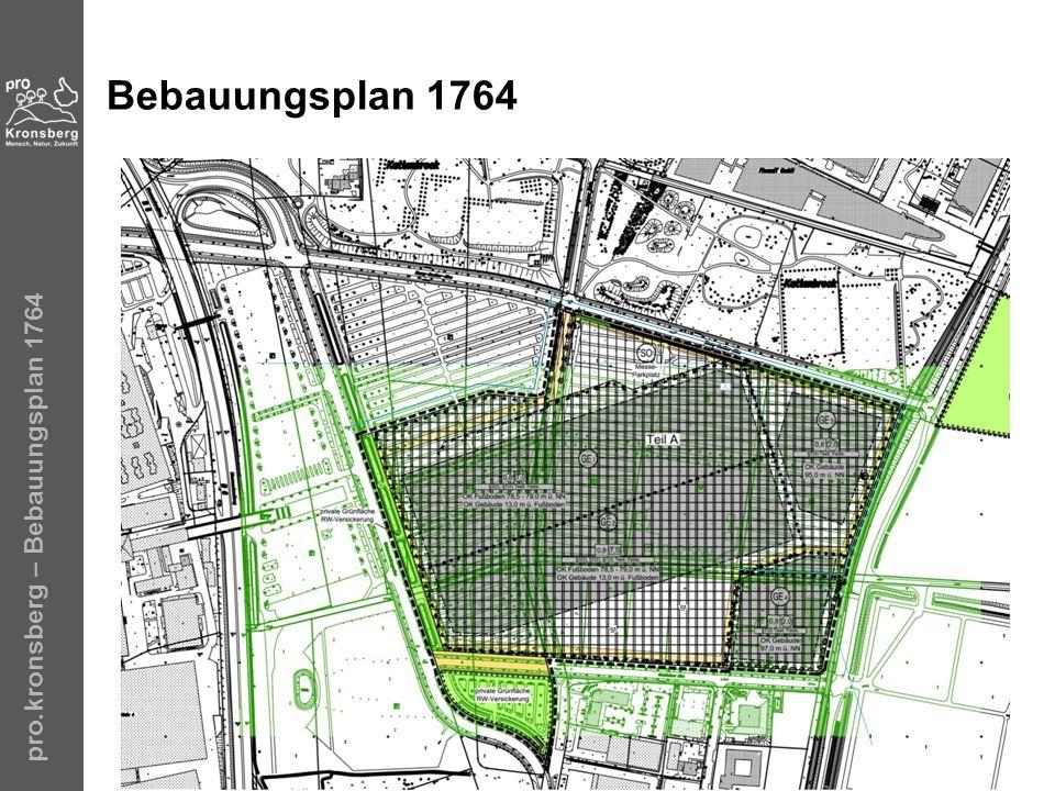 pro.kronsberg – Bebauungsplan 1764 Bebauungsplan 1764