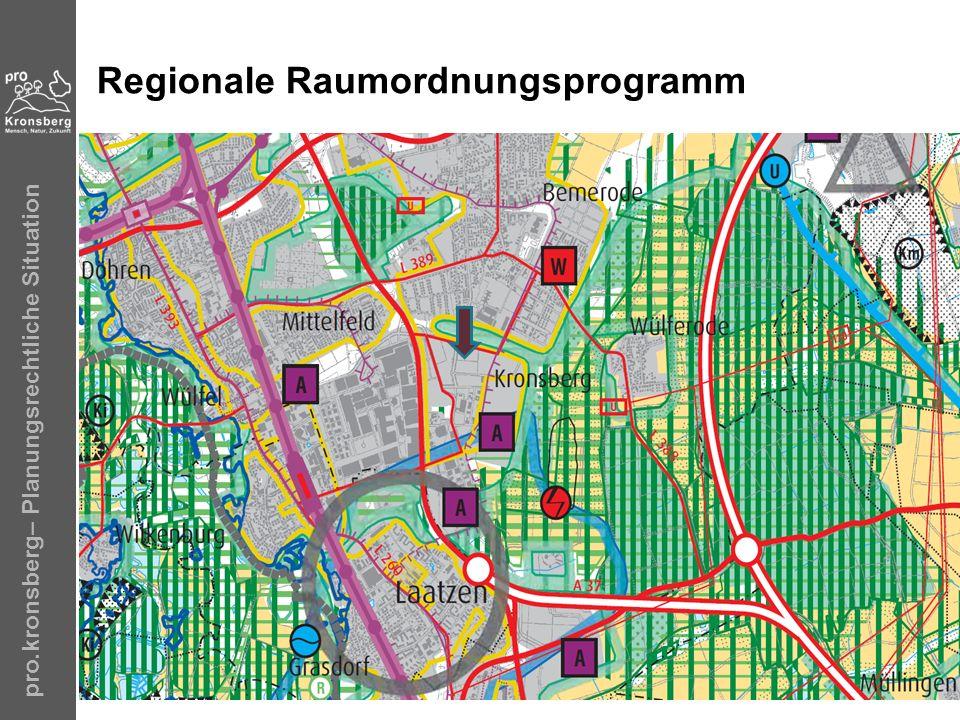 pro.kronsberg– Planungsrechtliche Situation Regionale Raumordnungsprogramm