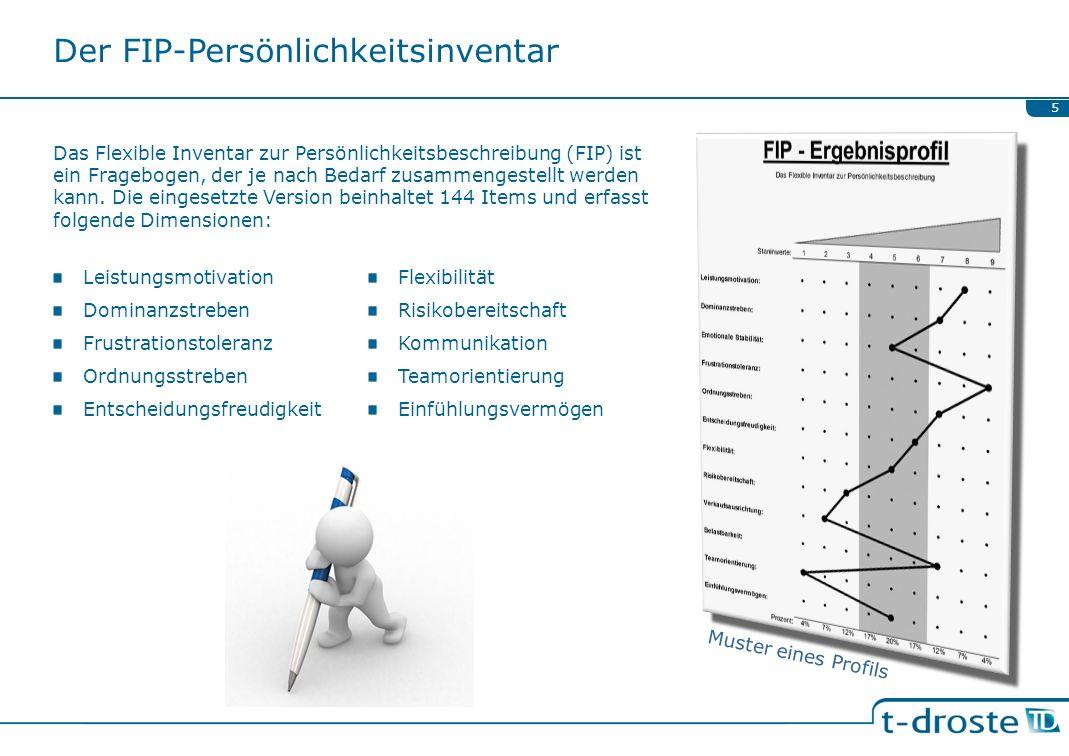Der FIP-Persönlichkeitsinventar Das Flexible Inventar zur Persönlichkeitsbeschreibung (FIP) ist ein Fragebogen, der je nach Bedarf zusammengestellt we