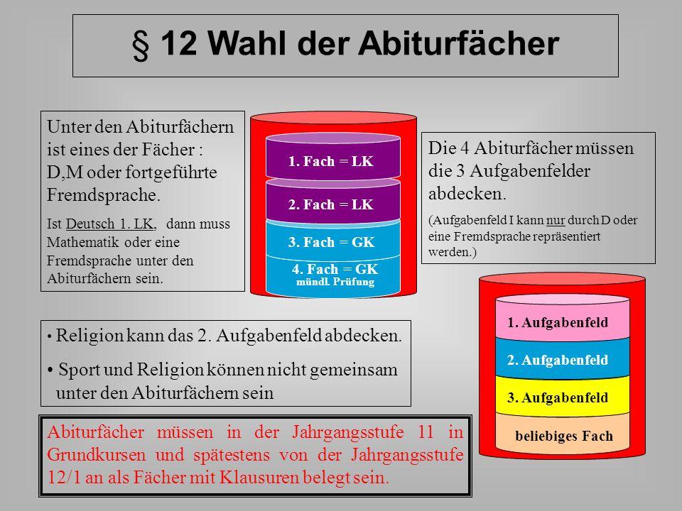 LK-Wahlen/GK-Wahlen für die Jgst. 12/13 6 – 7 Kurse (Pflichtkurse und weitere GK) 2 LK Ein LK muss sein: Deutsch Fremdsprache aus SI Mathematik Naturw