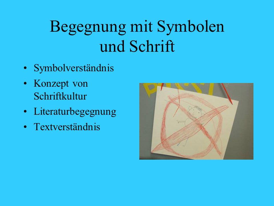 Begegnung mit Symbolen und Schrift Symbolverständnis Konzept von Schriftkultur Literaturbegegnung Textverständnis