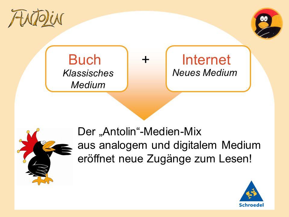Klassisches Medium Neues Medium Buch + Internet Der Antolin-Medien-Mix aus analogem und digitalem Medium eröffnet neue Zugänge zum Lesen!
