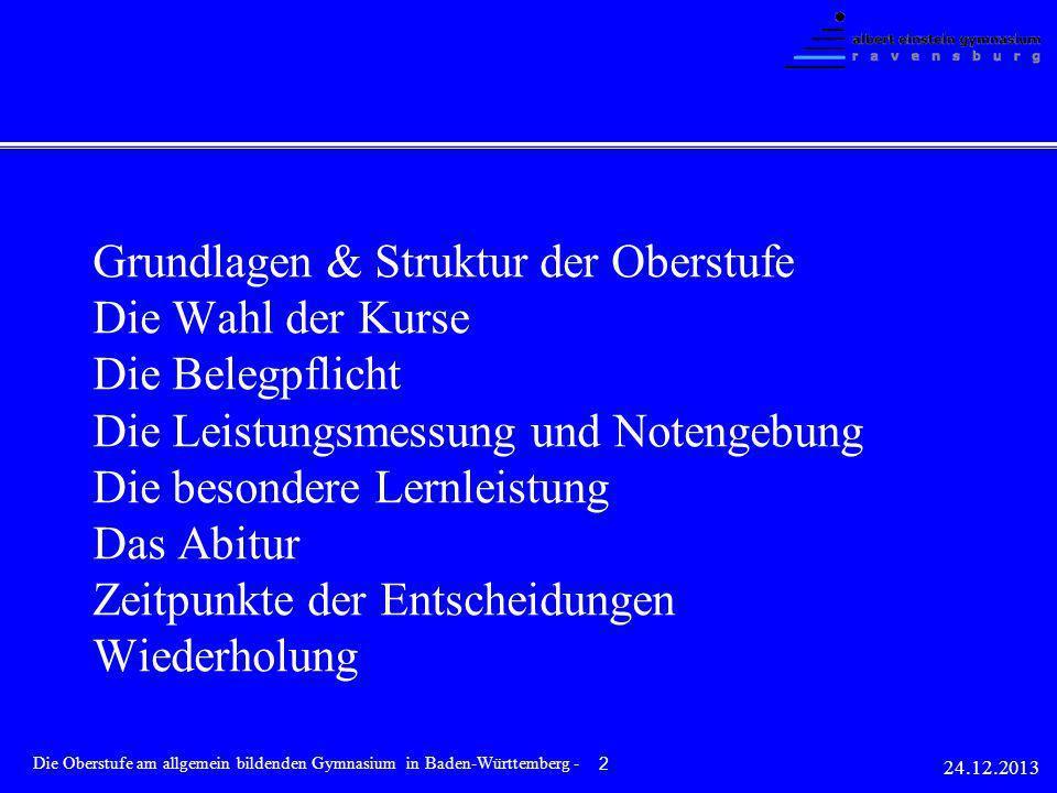 Ende Kl.11 (bzw. Kl. 10)vollständige und gültige Kurswahl Im 1.