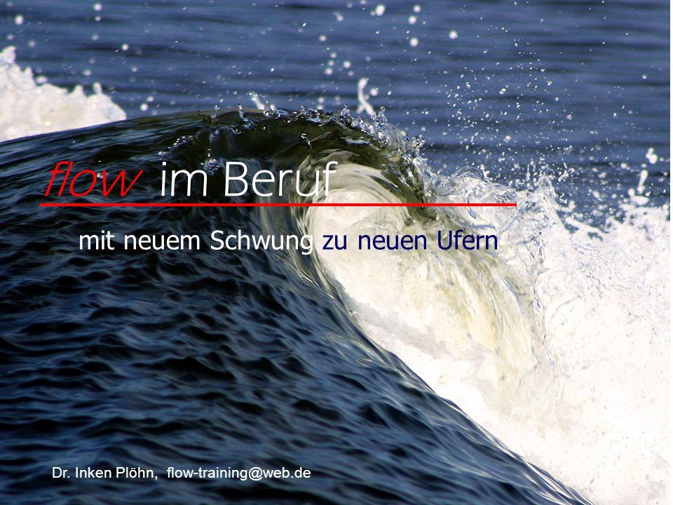 flow im Beruf mit neuem Schwung zu neuen Ufern Dr. Inken Plöhn, flow-training@web.de